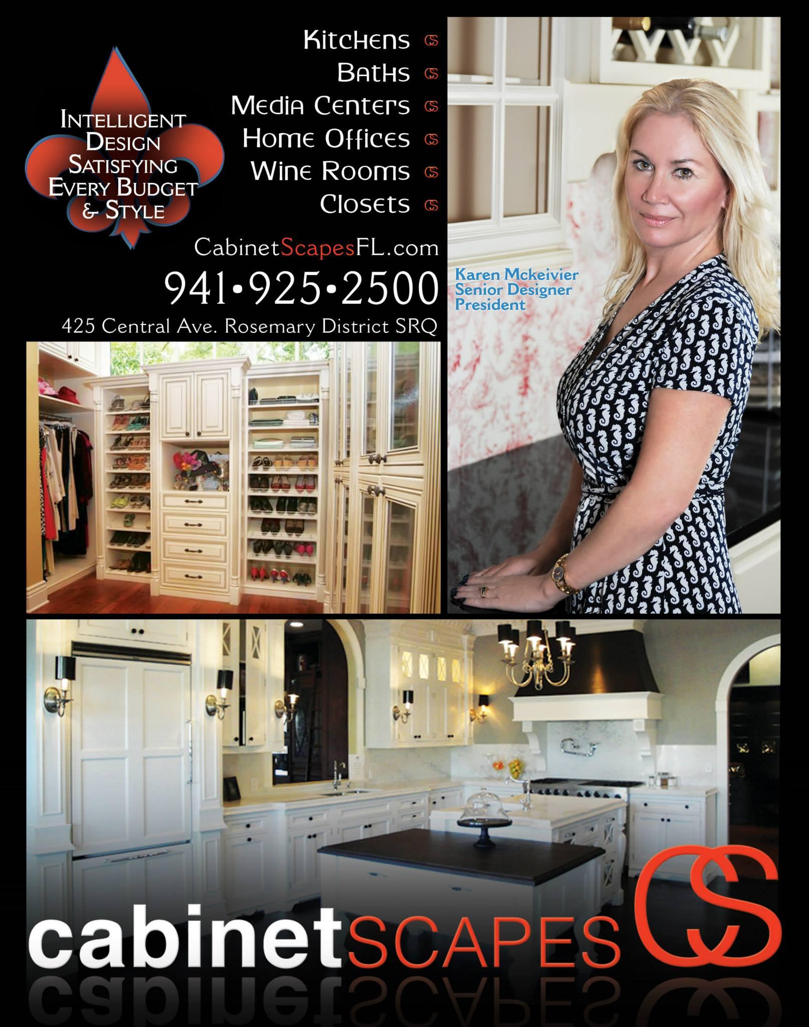 Karen Mckeivier designer Cabinet Scapes print ad by Instudio E