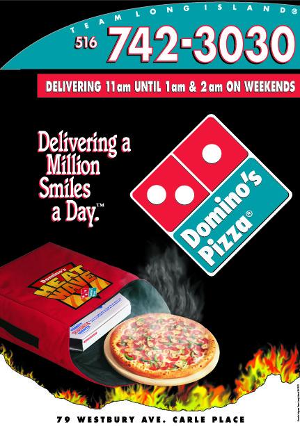 Domino's Pizza graphics and billboard design by Instudio E