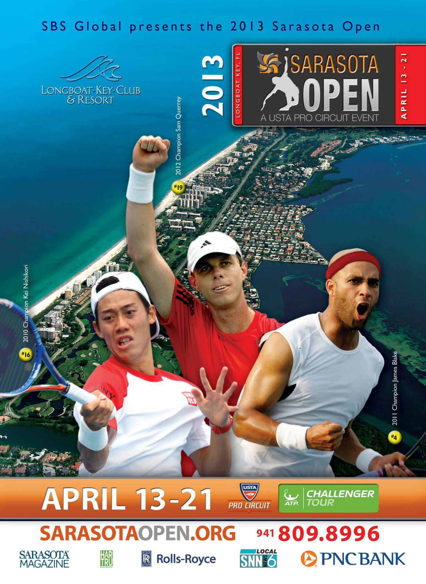 Sarasota Open USTA Pro Circuit Event brochure and flyer designs Instudio E